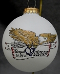 Proud to be a Veteran Ornament