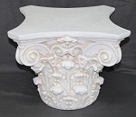 Corinthian Cocktail Pedestal in Plaster