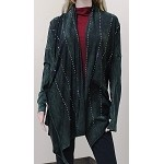 Wrap / Cardigan Multiple Wearing Options in Washed Green with Bling